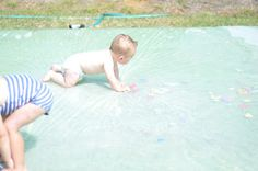 I-Spy Redneck Waterbed | Activities For Children | Outdoor Play, Sensory Activities, Things to do with infants, Water Play | Play At Home Mom