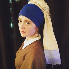 Girl with a Pearl Earring Halloween Costume :D
