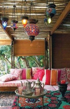 moroccan living room 20 Moroccan Style House with Outdoor Spaces