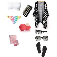 Adorable Beach outfit by carmentirado on Polyvore featuring polyvore, fashion, style, Boohoo, Havaianas, Chanel, Rich and Damned, Lipsy and Eos