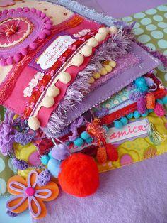 Dettaglio art journal- Elena Fiore.  Lovely colors always