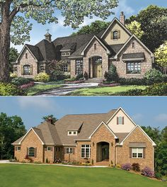 The Fincannon Plan 1234: Rendering to Reality! http://www.dongardner.com/plan_details.aspx?pid=3746 - The Fincannon offers every luxurious amenity on a single level. #Luxury #Ranch #DreamHome