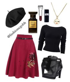 """""""Paris autumn"""" by lightbird on Polyvore featuring Donna Karan, French Connection, Kate Spade, Tom Ford and Betmar"""