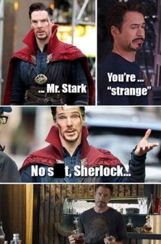"""This makes me way hapier than it should. They so need to have a """"Sherlock"""" refer… - Marvel Fan Arts and Memes Marvel Jokes, Marvel Dc Comics, Marvel Avengers, Heros Comics, Funny Marvel Memes, Dc Memes, Avengers Memes, Marvel Fan, Marvel Heroes"""