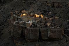 Sunrise at Wadi Do'an, Yemen by Paul Nevin.