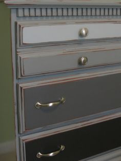 The Delectable Home: gray-dient dresser