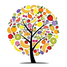 Illustration about Energy fruit tree for your design, vecotr. Illustration of melon, mandarin, design - 21367580 Fruit Logo, Fruit Illustration, Graphic Design Illustration, Embroidery Flowers Pattern, Flower Patterns, Pattern Flower, Tree Shop, Fruit Trees, Herbalife