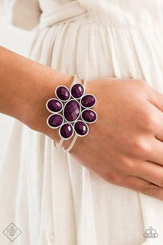 Petal Persuasion Purple Paparazzi Accessories Hinge Bracelet