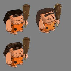 The Stone Age Season is home to our great, great ancestors, the Cave Men!!!(and ladies) Beware these club wielding enemies in Cartoon Survivor! #cartoonsurvivor #cavemen #spungegames #conceptart #art #cartoon #monobrow #stoneage #dinosaurs #iosapp #ios #i