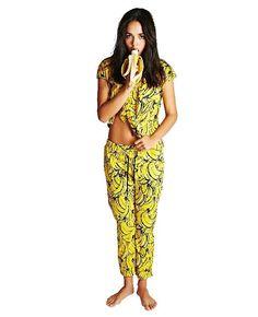 Banana Pants Sleep Set, Capri Pants, Banana, Random Stuff, T Shirt, Awesome, Dresses, Women, Fashion