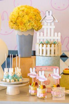 mesa de dulces miffy la conejita