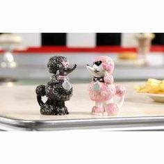 Retroflection Poodle Salt and Pepper Shaker by Giftcraft by Giftcraft. $10.51. Made of Ceramic. 1.8 x 2.5 x 3.8. Giftcraft Retro Poodle Salt & Pepper Shaker Set makes a fun gift for someone who collects salt & pepper shakers.