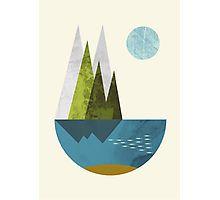 Earth, geometric print Fotodruck