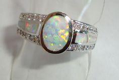 Ring-Feueropal-weiss-Zirkone-Gr-17-18-19-Opal-Inlays-925-St-Silber-pl-FOR50