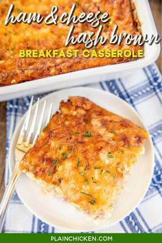 Ham Breakfast Casserole French Toast, Hashbrown Breakfast Casserole, Smoked Gouda Grits Recipe, Ham And Cheese Casserole, Easy Main Dish Recipes, Delicious Breakfast Recipes, Yummy Food, Architecture Design, Cream Of Potato Soup