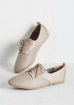 I've Trot a Long Way To Go Flat. One thing youve learned traveling through life is that you need a shoe thats stylishly versatile. #tan #modcloth