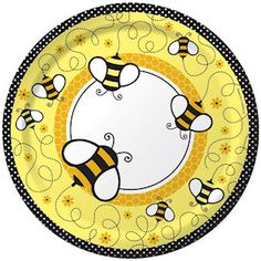Mommy to BEE Baby Shower Luncheon Paper Plates