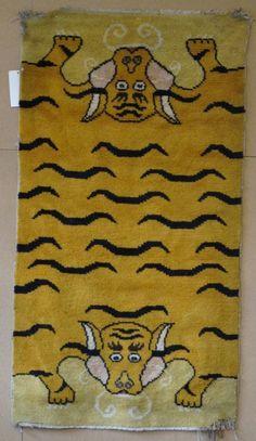 TIBETIAN CARPETS | Tibetan 'Tiger' Rug - Aaron Nejad Antique Carpets