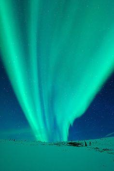 Aqua Aurora Borealis from Alaska