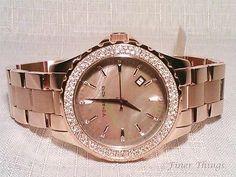 NWT!!! Michael Kors Runway Mother of Pearl Rose Gold Ladies Watch MK5453