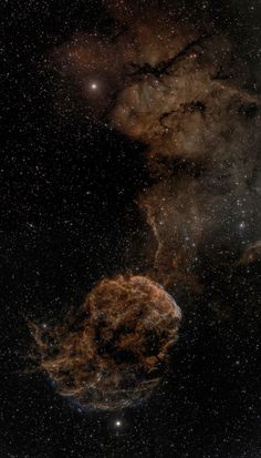 IC 443 (also known as the Jellyfish Nebula and Sharpless 248 (Sh2-248)) is a Galactic supernova remnant (SNR) in the constellation Gemini. On the plan of the sky, it is located near the star Eta Geminorum. Its distance is roughly 5,000 light years from Earth.