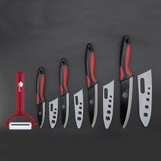 "Ceramic Knife Zirconia cooking set 3"" 4"" 5"" 6"" inch+ Peeler+Covers fru – TopChef.com"