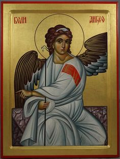 The White Angel of Serbia ( Бели анђео / Beli anđeo) Hand-Painted Byzantine Icon. Best know fresco in Serbia, Mileševa monastery.