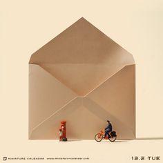 "tanaka tatsuya, ""post"", miniature calendar http://miniature-calendar.com"