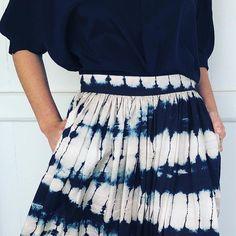 There is just something about indigo, it calls me everytime dye silk dyed silk Tie Dye Skirt, Indigo, Textiles, Silk, Skirts, Handmade, Instagram, Fashion, Skirt