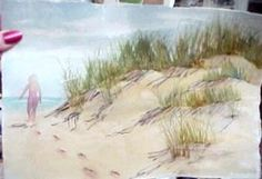 How to paint footprints in the sand in watercolor - Susie Short's Free Watercolor Tips
