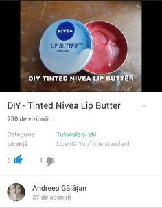 DIY Tined Nivea Lip Butter