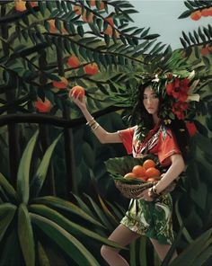 """""""Welcome to the Jungle"""": Henri Rousseau Homage by An Jisup for Vogue Girl Korea"""