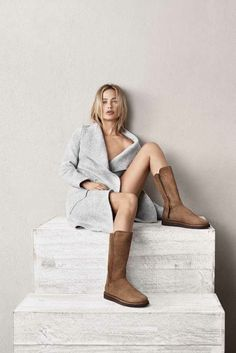 Footwear brand UGG has tapped Carolyn Murphy as the face of its new limited-edition Classic Luxe collection. Boasting a sophisticated styling of its classic boot, the complete line was made in Italy. Priced between $245.00 and $290.00, check out more from the new collection below. Related