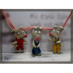 The 3 little pigs , silver plated necklace ,Who's afraid of the big bad wolf? Big Bad Wolf, Little Pigs, 3 Things, Fairy Tales, Christmas Ornaments, Holiday Decor, Silver, Necklaces, Accessories