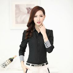 Fashion women long sleeve shirt 2018 New slim elegant blouses shirts ladies white chiffon office work plus size clothes tops The Office Shirts, Work Shirts, Button Up Shirt Womens, Work Wear Office, Look Formal, Uniform Shirts, Formal Shirts, Blouses For Women, Long Sleeve Shirts