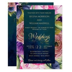Find customizable Botanical invitations & announcements of all sizes. Pick your favorite invitation design from our amazing selection. Botanical Wedding Invitations, Winter Wedding Invitations, Vintage Wedding Invitations, Jewel Tone Colors, Jewel Tones, Wedding Phrases, Winter Wedding Inspiration, Wedding Ideas, Wedding Decor