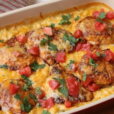 Enjoy a Mexican twist on the family favorite chicken and rice with this Smothered Chicken Queso Chicken casserole that is easy to prepare ahead. Mexican Dishes, Mexican Food Recipes, Dinner Recipes, Dinner Ideas, Mexican Meals, Mexican Chicken, Supper Ideas, Yummy Recipes, Keto Recipes