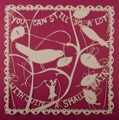 "Rob Ryan papercut ""You can still do a lot with quite a small brain"", which gives us all a little hope ;)"