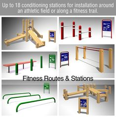 site that sells many different style Outdoor Fitness trail equipment