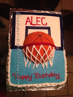 Awesome Basketball Cake... Coolest Birthday Cake Ideas