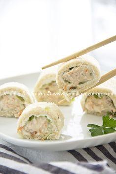 """""""Sushis"""" de pan y atún/Bread and tuna """"sushis"""""""
