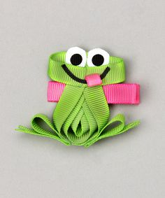 frog clip; do with google eyes?