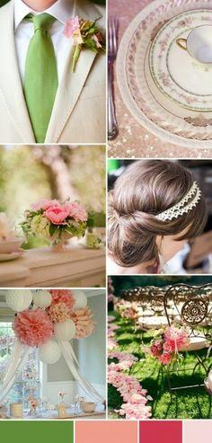 Vert & rose vintage