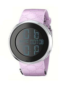 4ef06d73a1a GUCCI Women s YA114404 i-GUCCI Digital Pink Watch