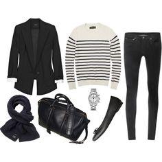 black and stripe