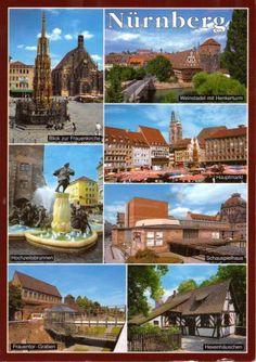 Nurnberg, Germany  Best Bratwurst. Best Lebkuchen. Fantastic Christmas Market. One hour from my German Home.