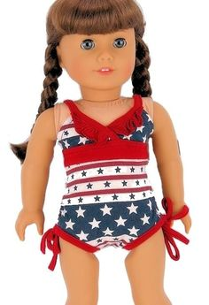"18"" Doll SWIMSUIT & HOODIE DRESS SET fits American Girl Dolls Bathing Suit"