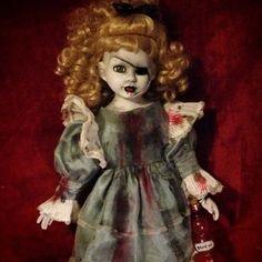 Bastet2329 Large OOAK Creepy Bloody Alice in Wonderland Doll Drink Me bottle