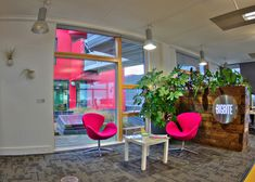 Our new home - Big Bite Creative Office Reception, Reception Areas, Tulip Chair, Creative Studio, Open Plan, Commercial, New Homes, How To Plan, Offices