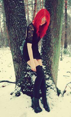 frozen #Goth girl